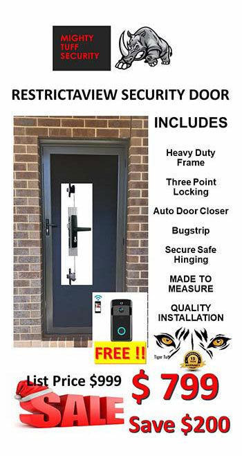 Restrictaview Security Door Sale $799