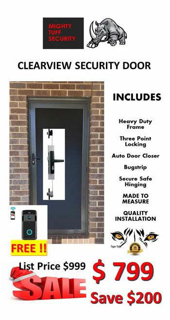 Clearview Security Door Sale $799